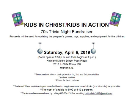 Trivia Night - Equipment Fundraiser