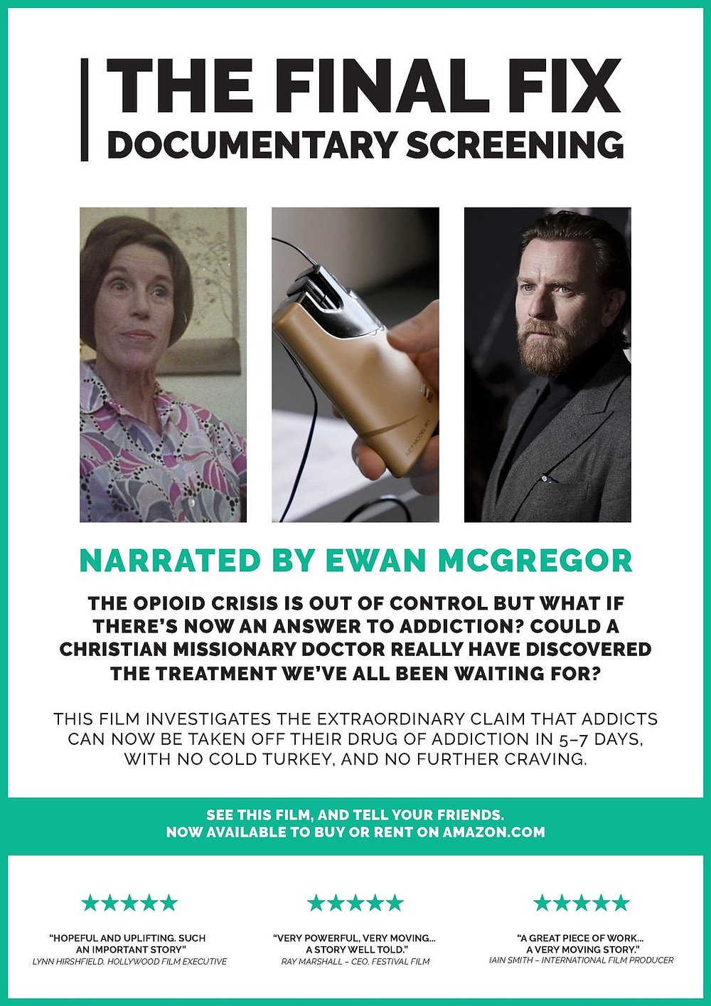 Poster for The Final Fix showing Ewan McGregor and Dr Meg Patterson.