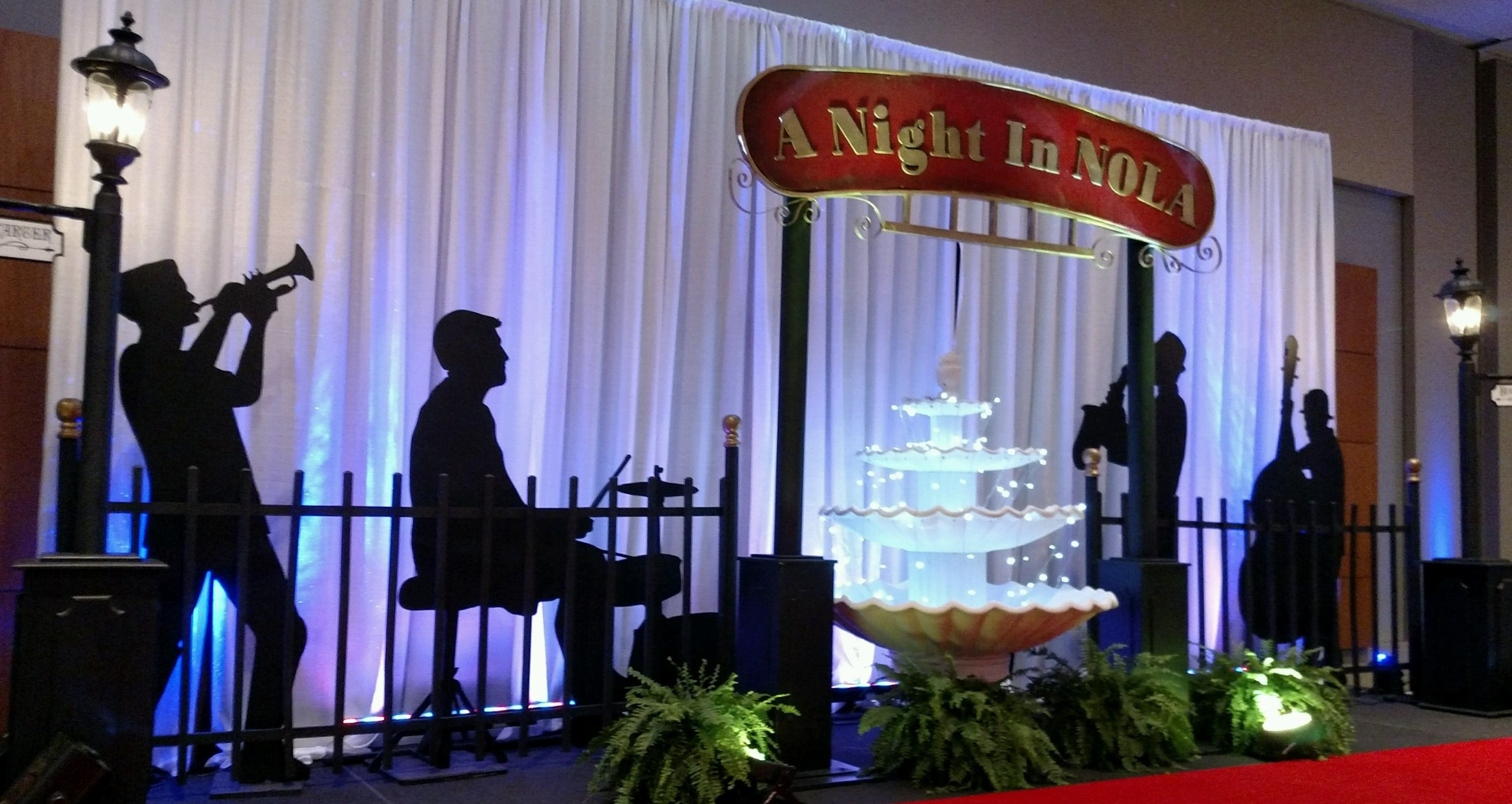 Jazz Themed Event Stage Decor