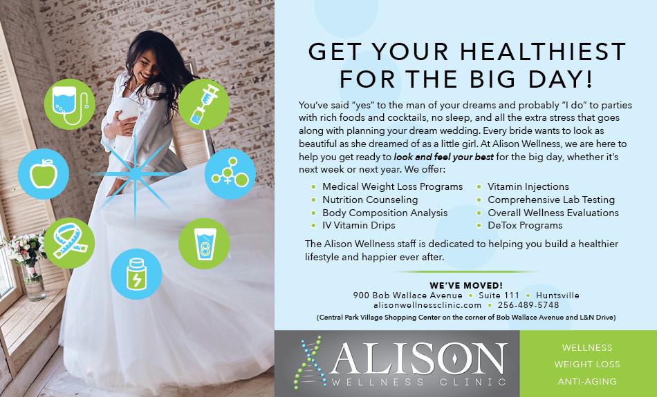 Alison Wellness Clinic magazine ad