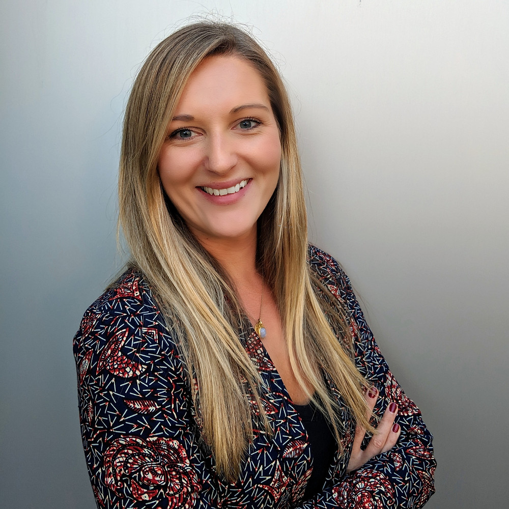 young blonde woman, Amy Deptford is a Public Health Nutritionist