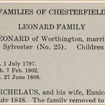 Hannah (Sylvester) Leonard - mother of Russell Leonard?