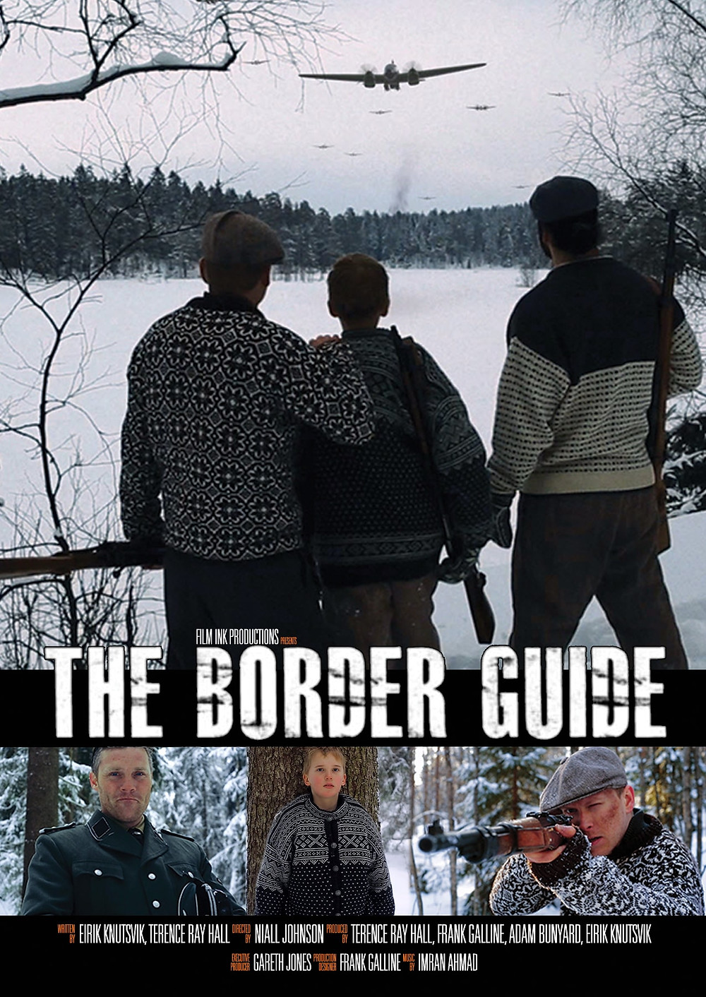 The Border Guide Cover Page for the feature film about a young Norwegian boy in WW2
