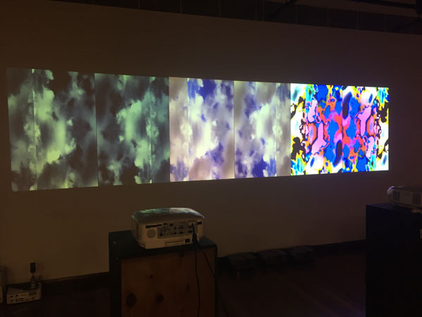 The three projectors working together