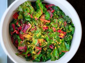 Easy Lemon & Garlic Swiss Chard Salad