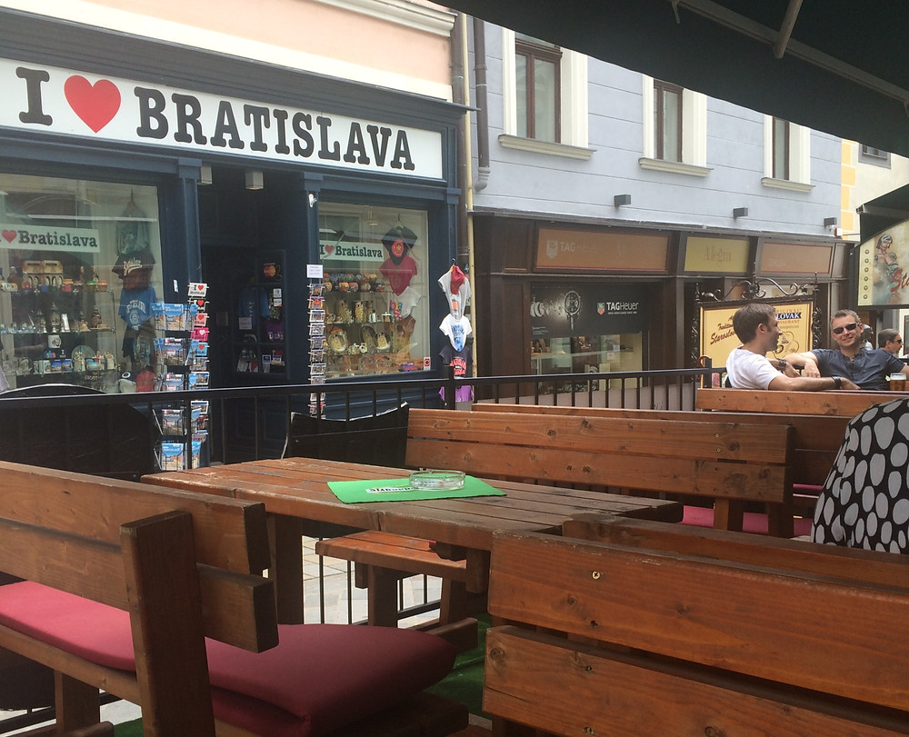 Restaurant in Bratislava with outdoor seating in Slovakia