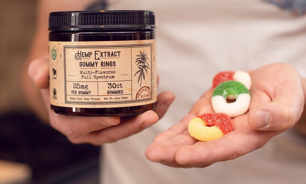 Cannabis gummy rings