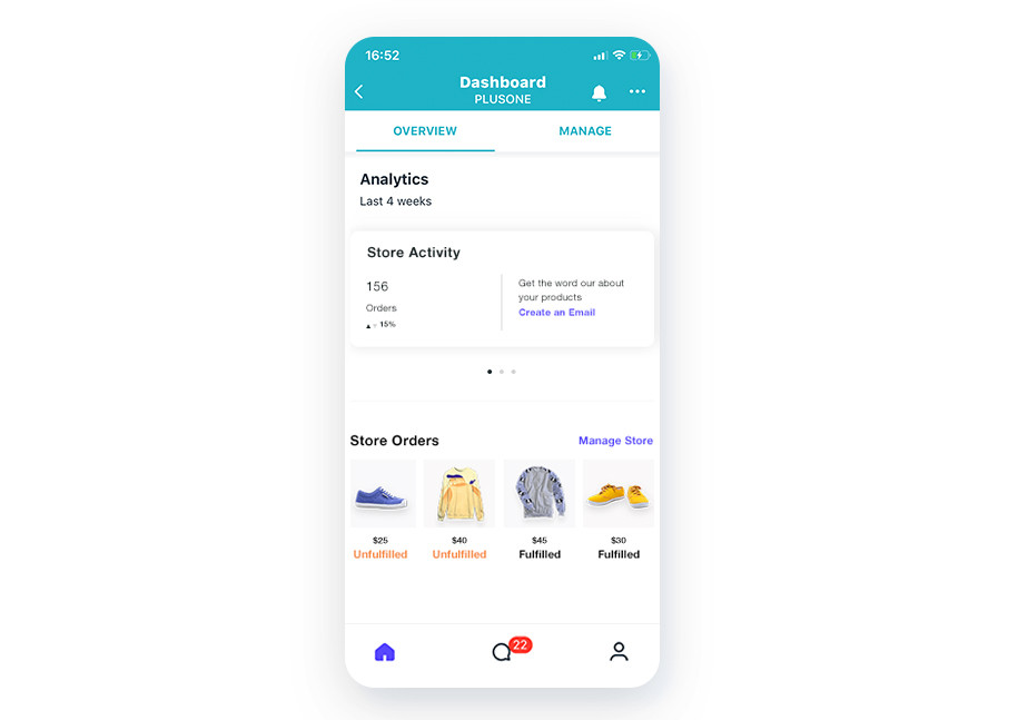 manage your online store through the wix mobile app