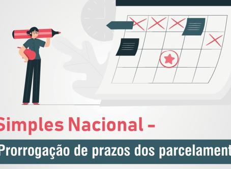 Simples Nacional - Prorrogação de prazos dos parcelamentos