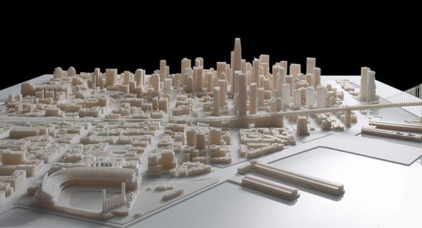 Steelblue divulga o maior modelo interativo de cidades impressas em 3D de São Francisco