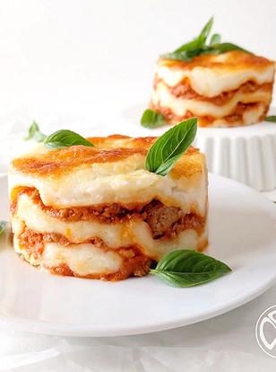 Lasagne mit selbstgemachter Pasta