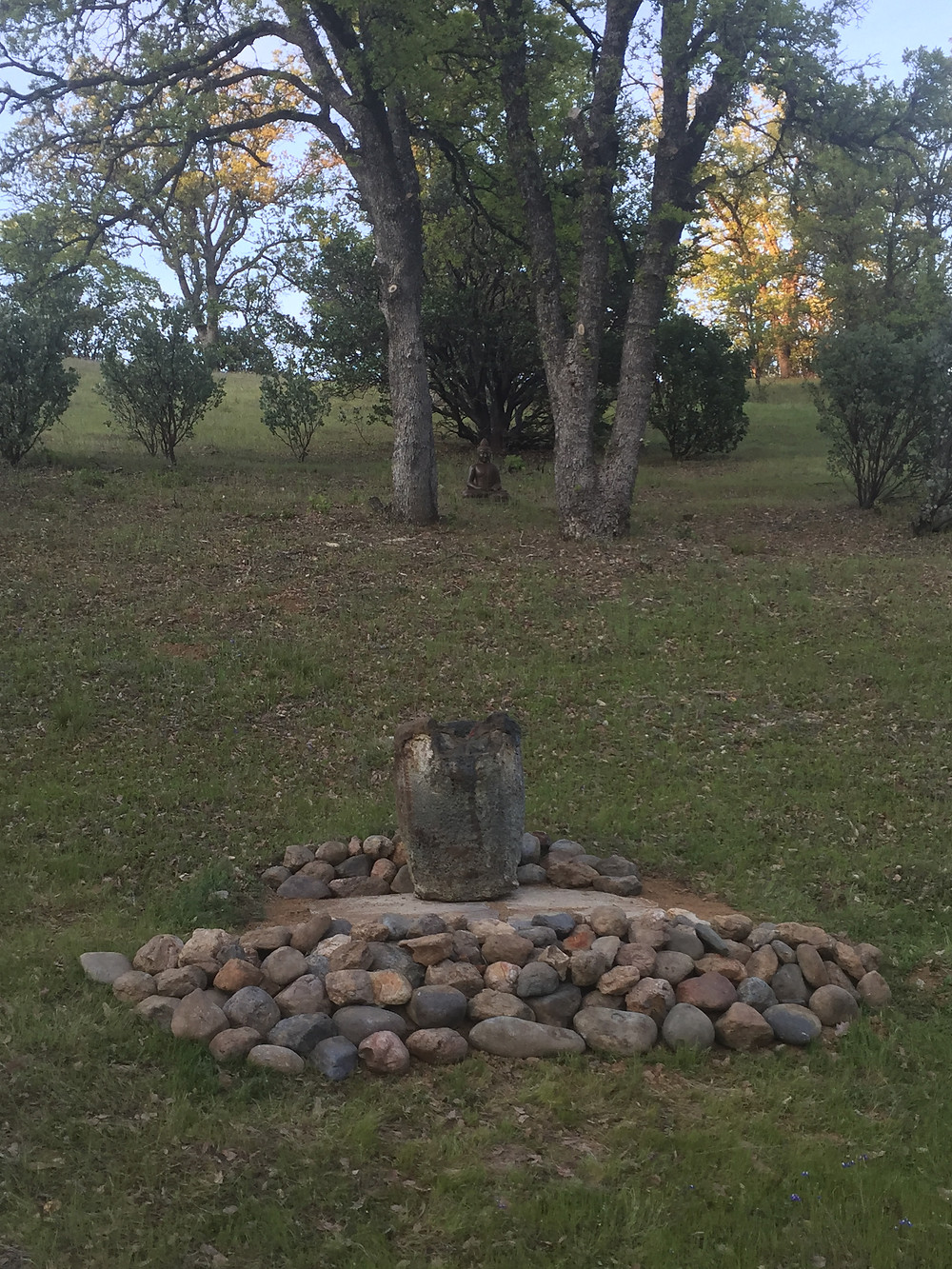 Newly Constructed Shrine at Meditation Valley.