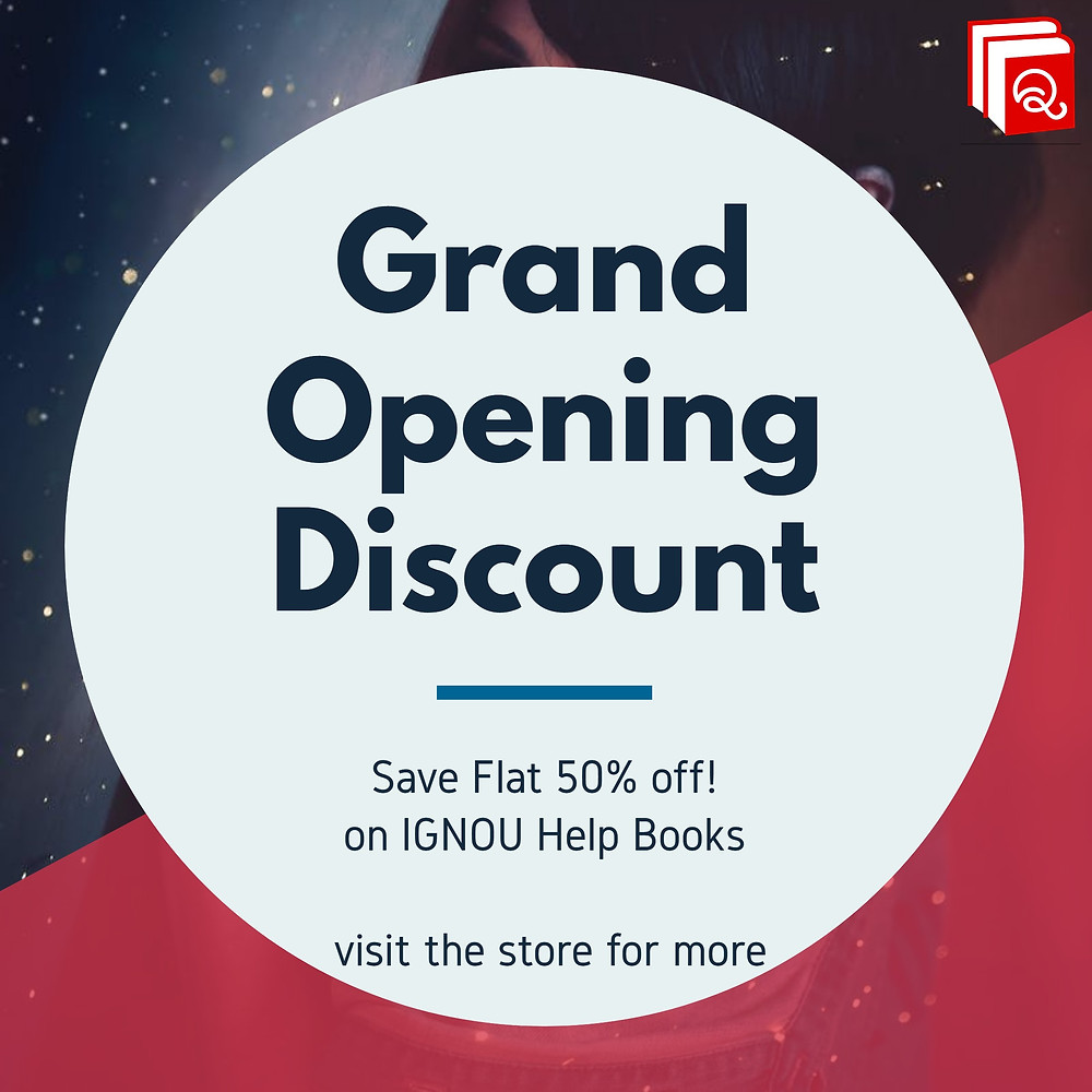 Grand Opening Discount at BooQs.in on IGNOU Help Books