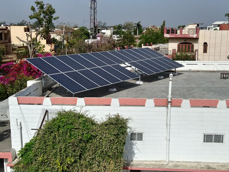 Energy Yield of a solar power plant in Ambala