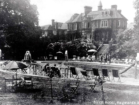 1933: The Birch Hotel Bathing Pool opened in brilliant sunshine