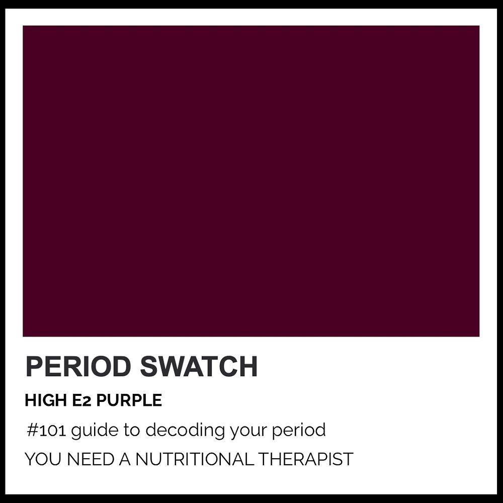 Period-Pantone High E2 Purple by Hormone Specialist Kay Ali