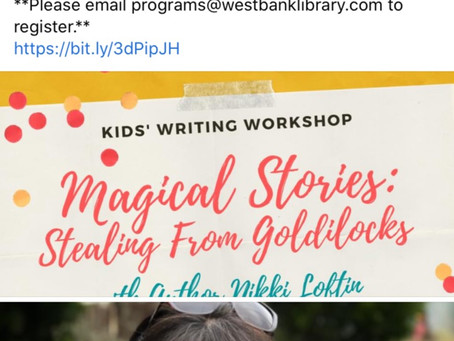 Writing Workshop-For Elementary+Middle School Ages-Folk+Fairy Tales with Author Nikki Loftin