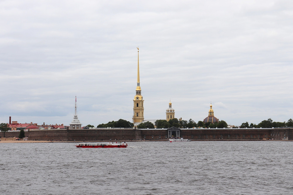 Peter and Paul Fortress from across the neva river st petersburg russia