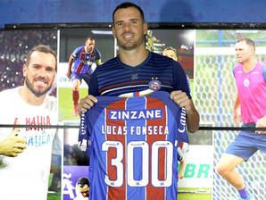 Bahia: Lucas Fonseca chega a 300 jogos pelo Esquadrão