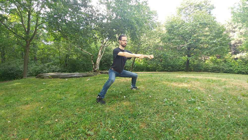 Position du cavalier en Kung Fu