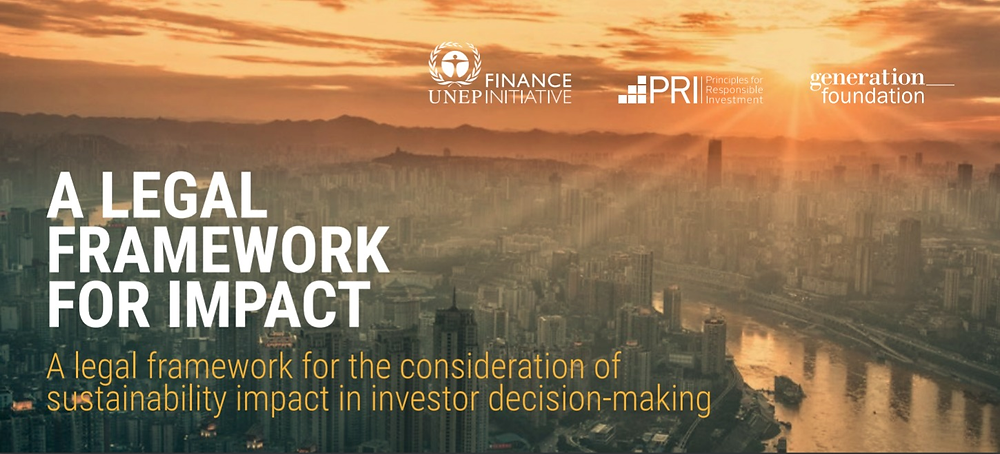 PRI, UNEP FI and Freshfields to present 'A Legal Framework for Impact' at esela Annual Conference