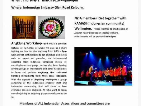 NZIA Angklung Workshop