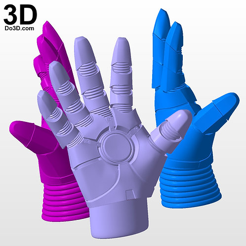 Solid Iron Man Glove / Hand for Statue Toy Action Figure | 3D Model Project #N01