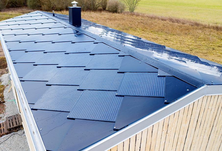 Takintegreraade solceller Gotland