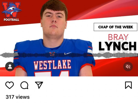 "Chap Football ""Chap of the Week"" Bray Lynch"