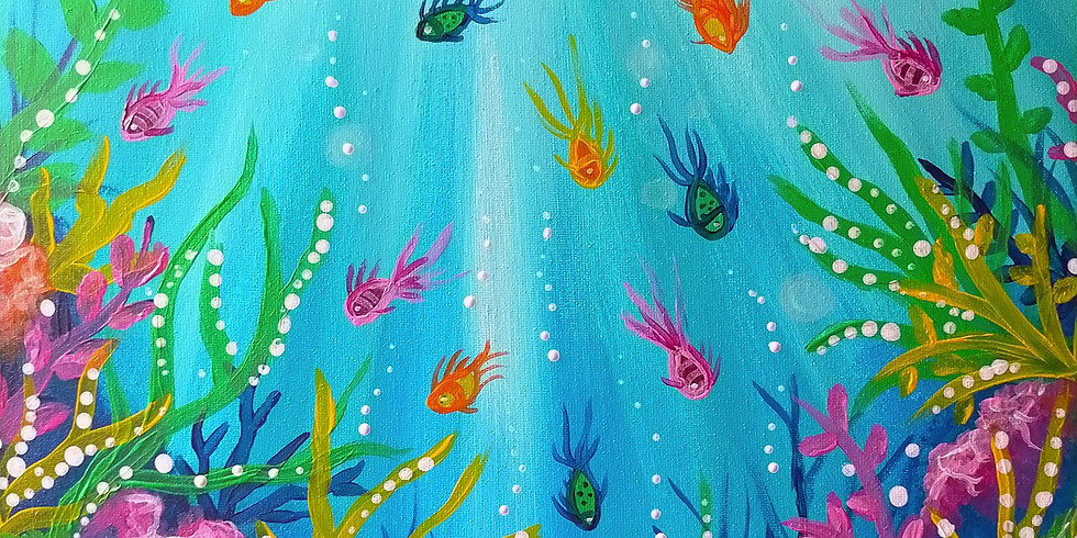 WARWICK - Learn to sip and paint with us - Learn to paint 'Underwater paradise'