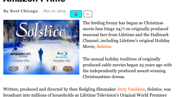 """Reel Chicago covers """"Solstice"""" Amazon Prime and Blu-ray Updates"""