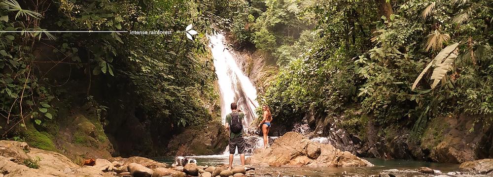Matt, Amy and MJ at a waterfall
