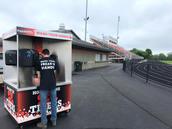 Personal Protected Delivers Hand Washing Station to Springfield Local High School
