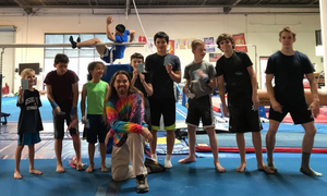 junior and college teams training together
