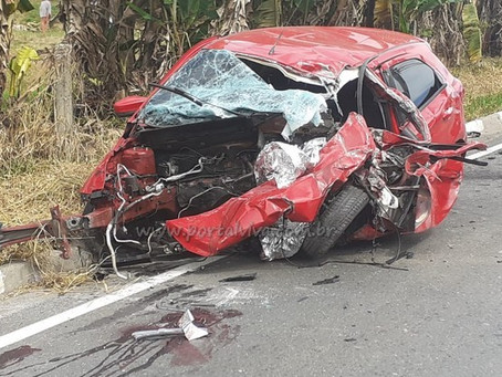 Acidente grave deixa vítima fatal na Estrada Fernando Nobre