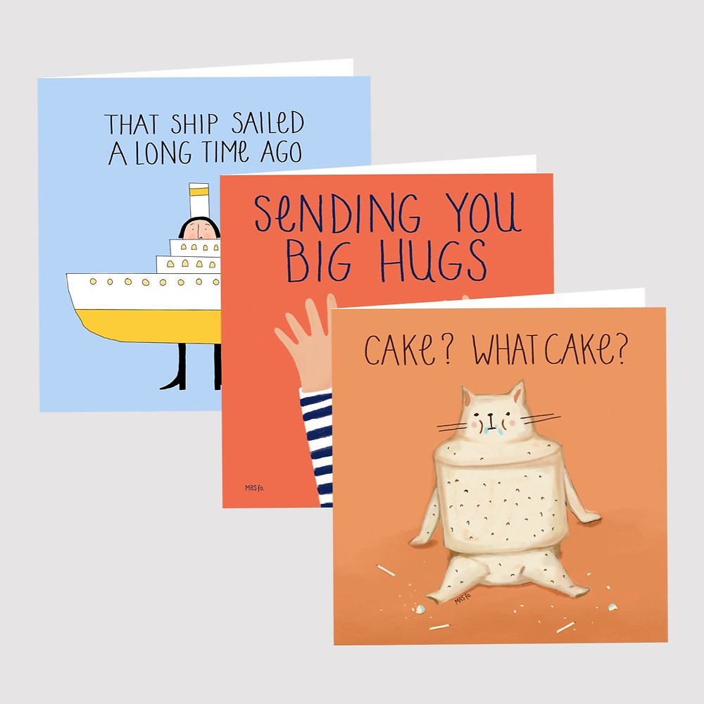 Mrs Fo. Illustrated Greeting Cards