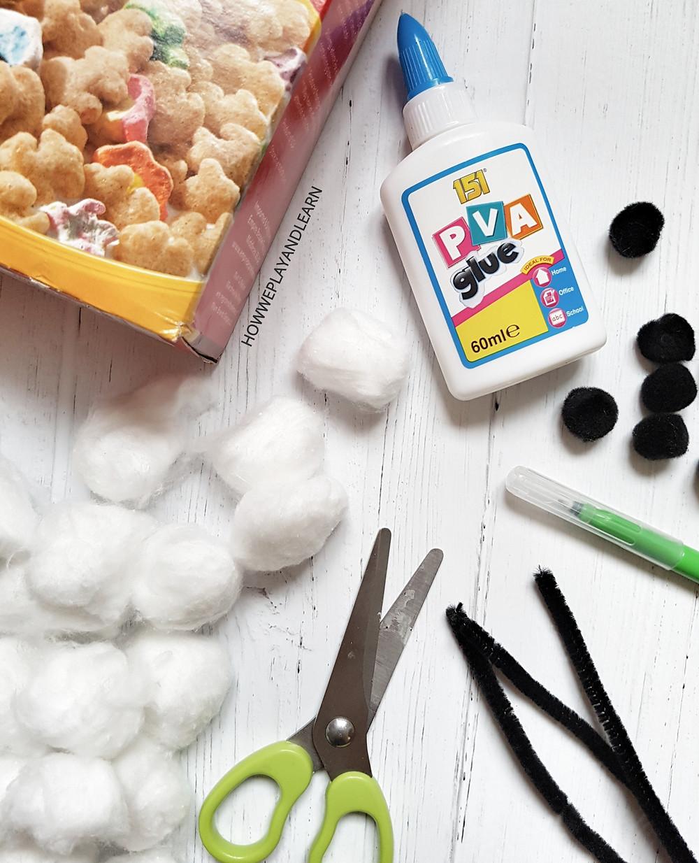 puffy ghost halloween craft supplies