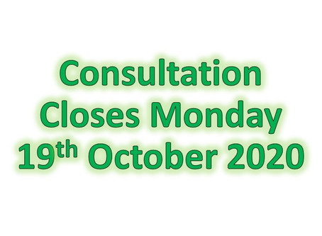 Consultation Closes Monday 19th October