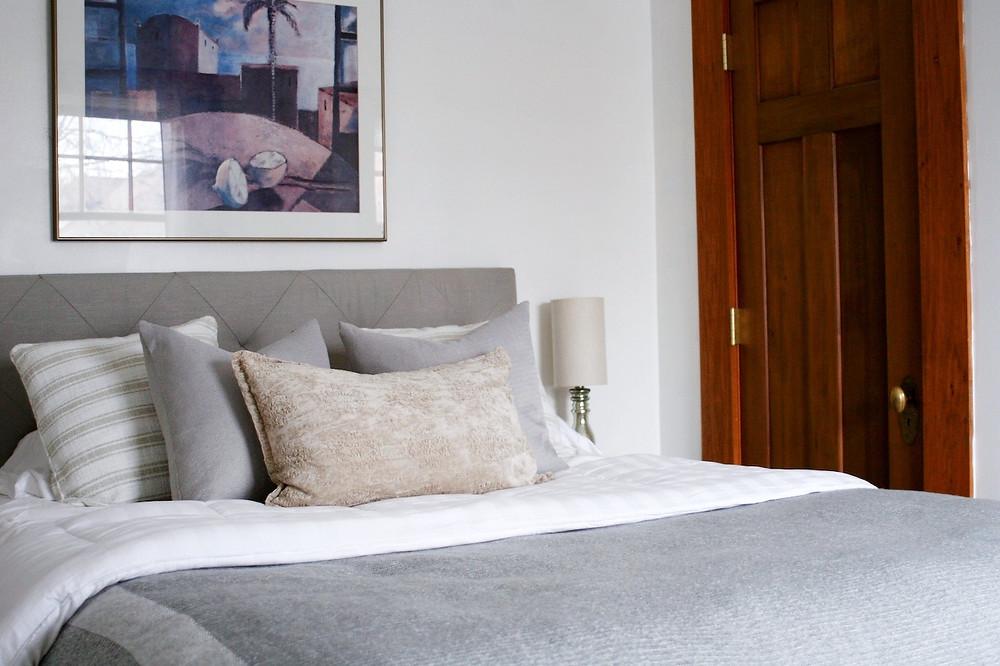 Bedding in guest bedroom