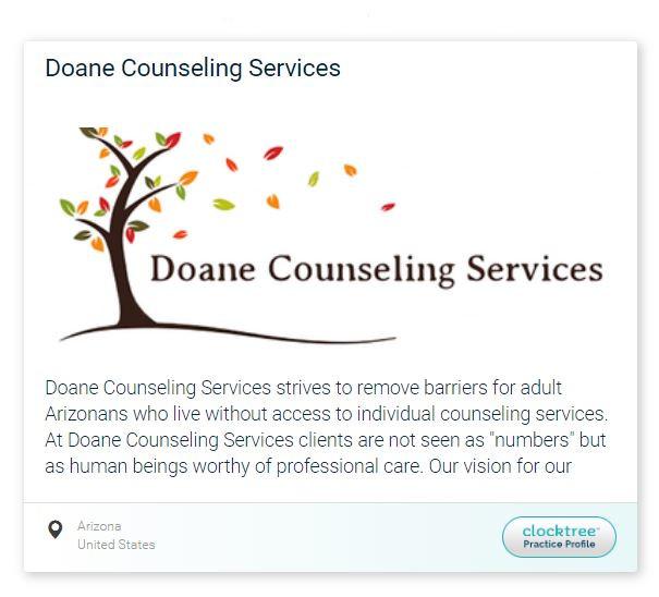 Doane Counseling Services Online Portal