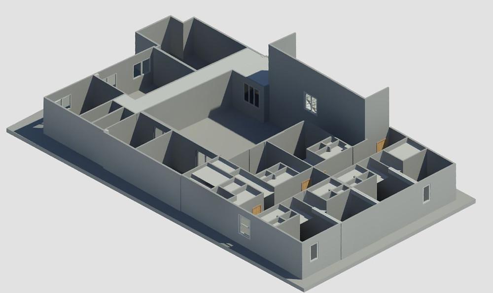BIM - Escaneo Laser - Documentación As-Built - Modelo Revit