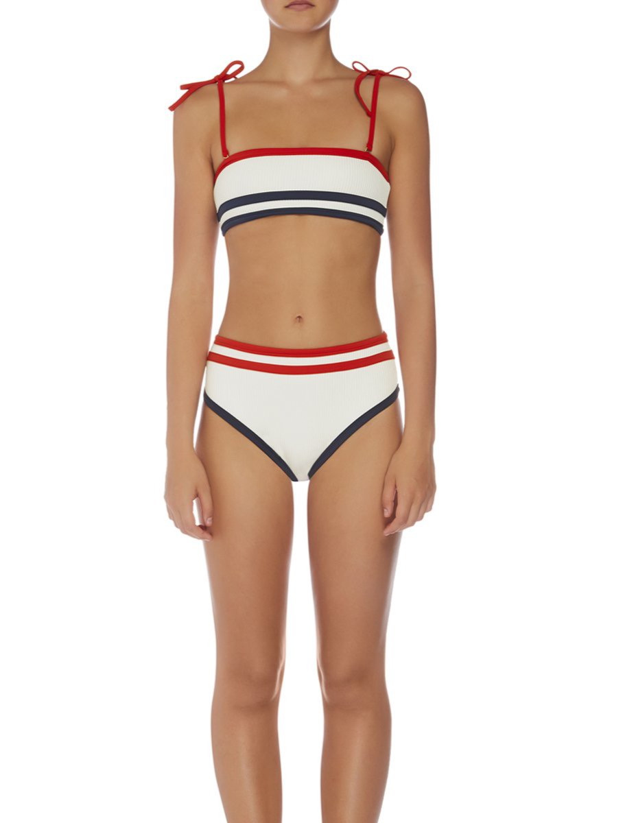 SADIE BANDEAU - BLANCO. sky and staghorn bandeau bikini top