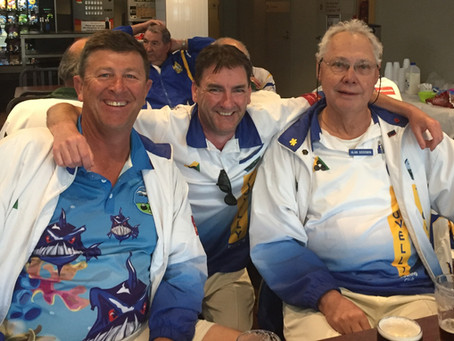 Irish, Noddy & Stretch in the Sutherland Bowlo Spring Triples Carnival