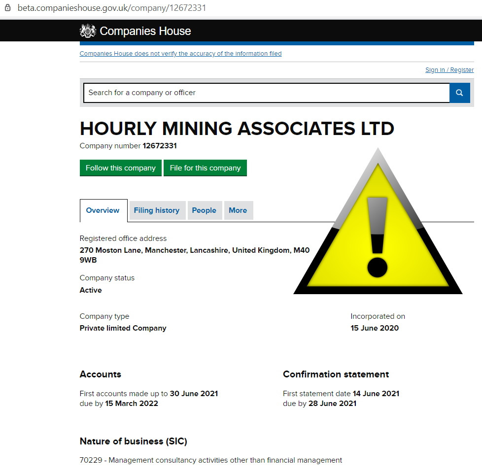 Hourly Mining SCAM
