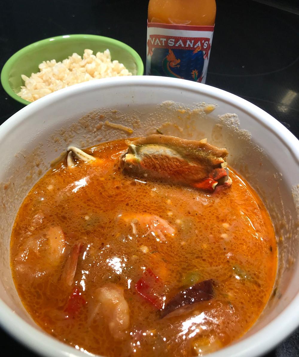 cajun seafood gumbo crockpot crab shrimp vatsana's