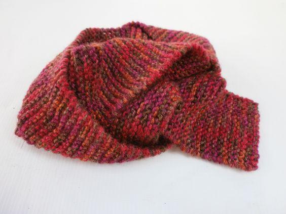 Plain stitch scarf