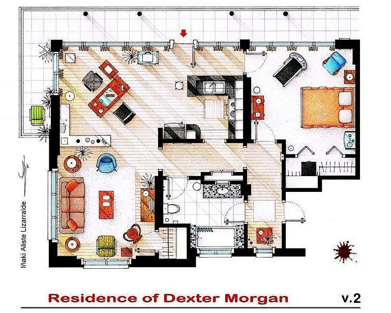 Brixel, Dexter, Dexter Morgan, Thriller, Palm Terrace Apartment