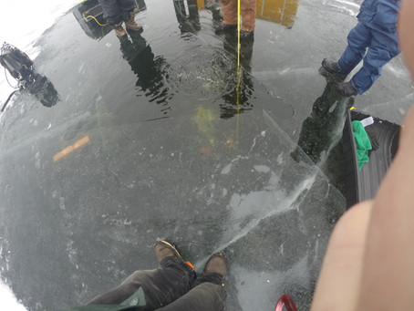 January 21st 2018 - Okauchee Lake Ice Dive - Click picture for full story below