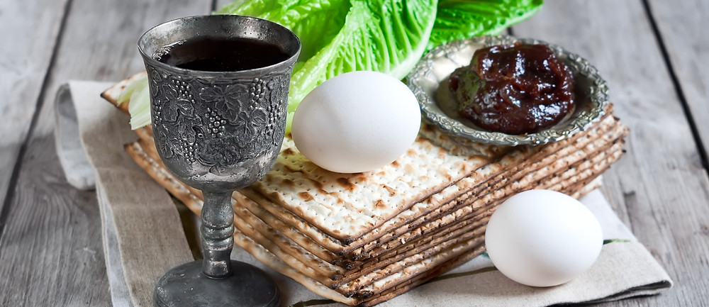 The Passover Seder includes the egg representing the circle of life, bitter herbs representing the bitterness of slavery and sin, haroset representing the mortar used by the Jews in Egypt, matzah and the wine representing the body and blood of Christ.