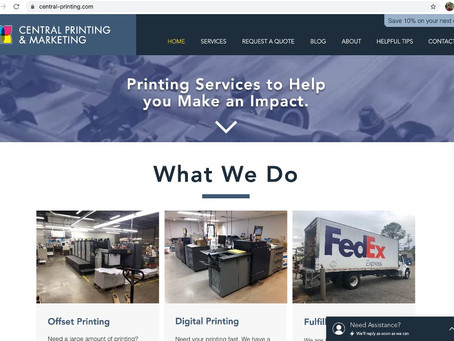 Redesign of the Central Printing and Marketing Website in a COVID-19 Environment